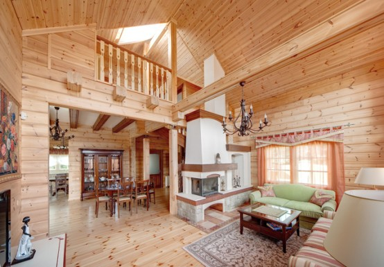 Brunarice kot lesene hi e udobna lesena brunarica ki - Casas de madera balcan house ...