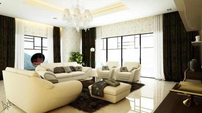 Dnevne sobe in sodobni slogi oblikovanja izvrstna for Fancy wallpaper for living room