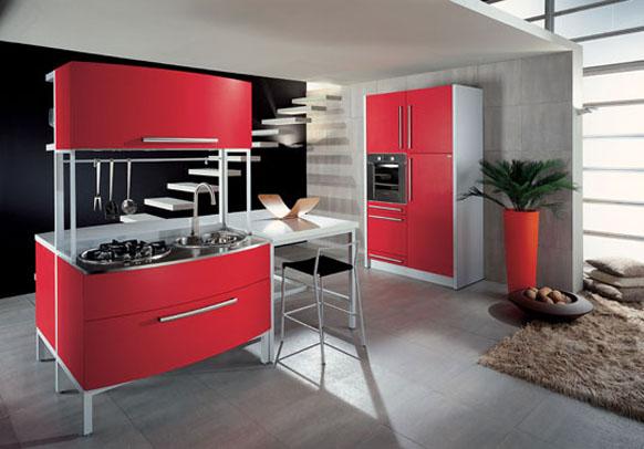 Kuhinje rde e barve prisotnost rde e barve v kuhinji v for Z gallerie interior design