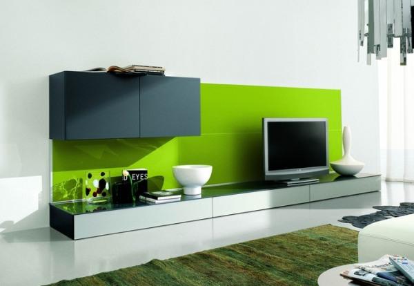 Sala De Estar Verde Kiwi ~ LCD  TV v dnevni sobi  20 idej kako umestiti in integrirati svoj LCD