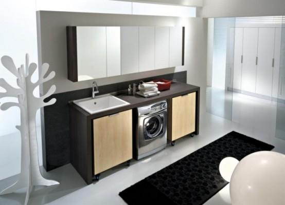 pralnica moderno ume anje pralnice po va i meri. Black Bedroom Furniture Sets. Home Design Ideas