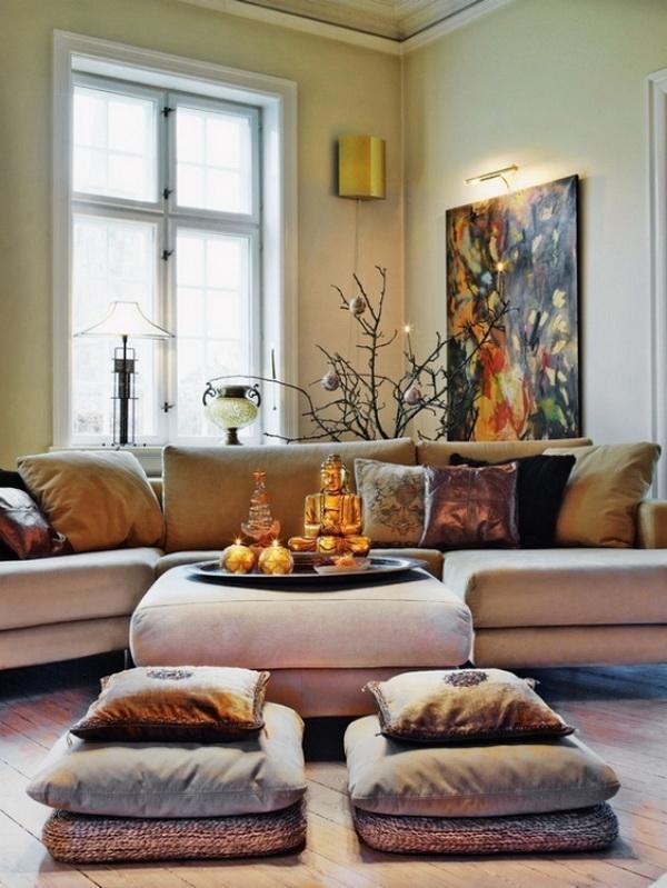 Sodobna bo i na drevesca trend dekoracije ter for Small living room zen design